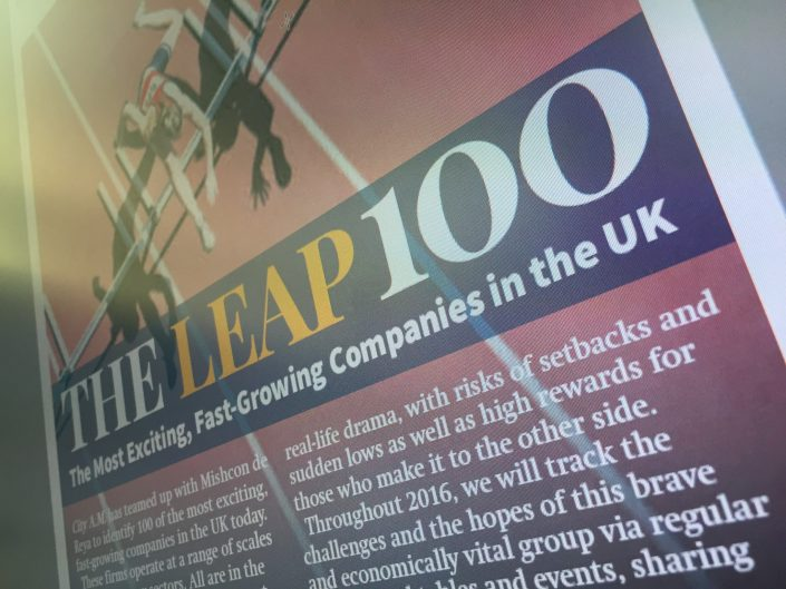 DA named in the City Am 'Leap 100'
