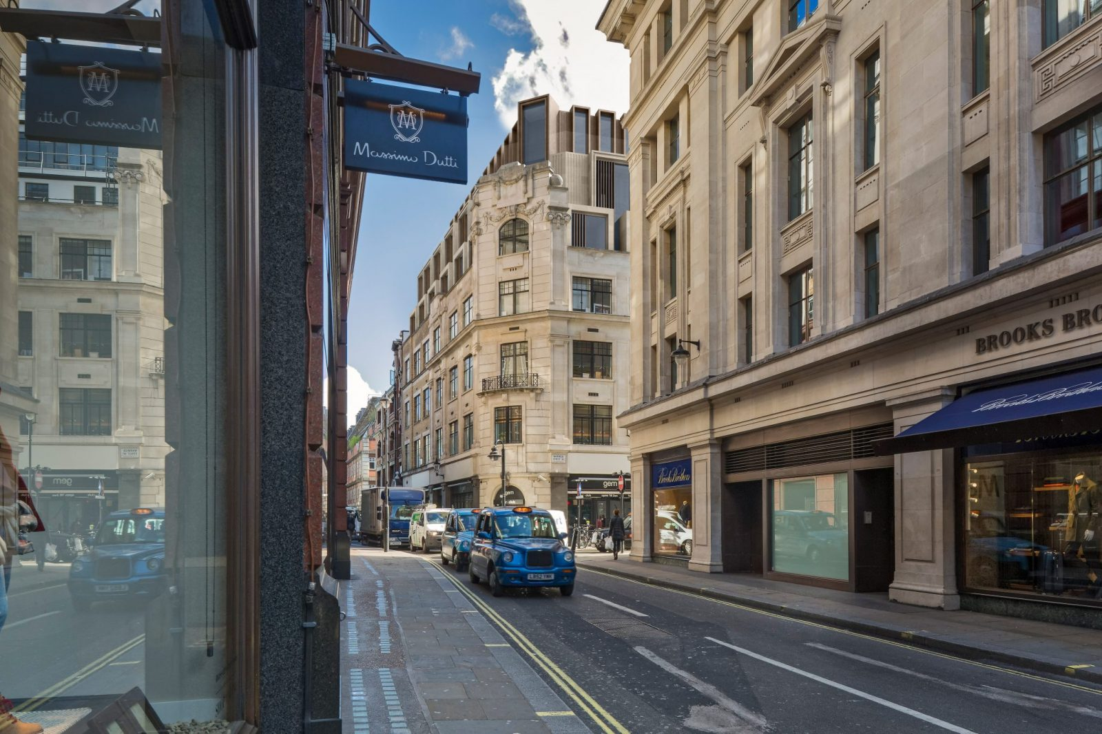 Axtell House - View down Beak Street in Soho