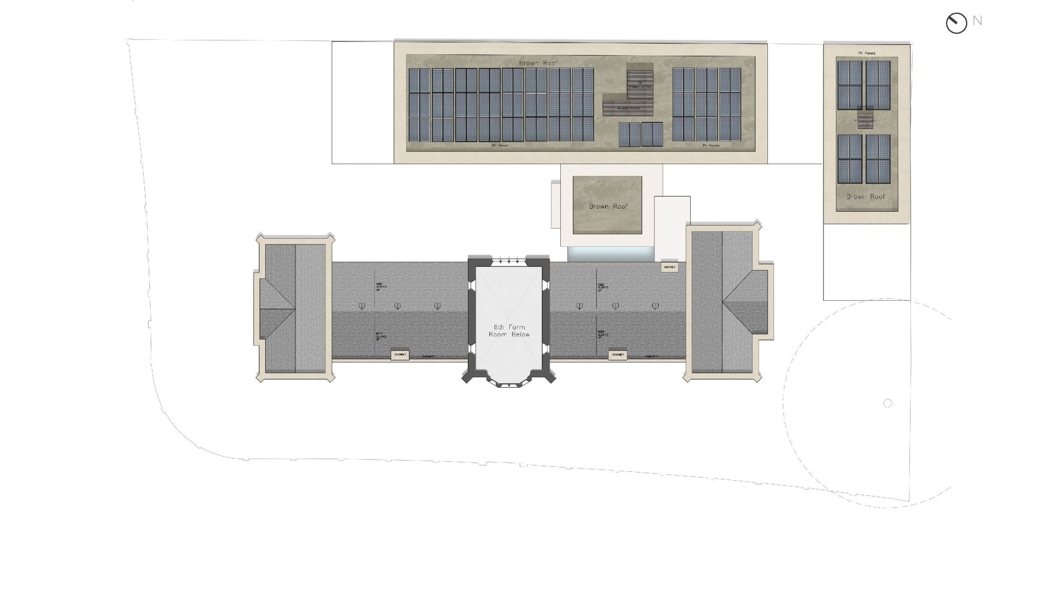Plan, Second Floor - The Castle Club School, Fulham, London SW6
