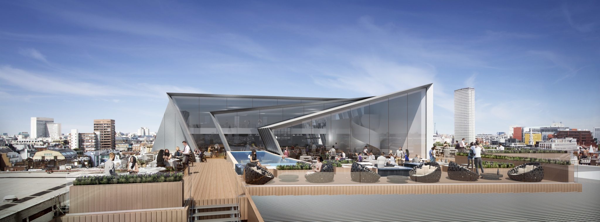Trocadero Roof Top Bar - Darling Associates