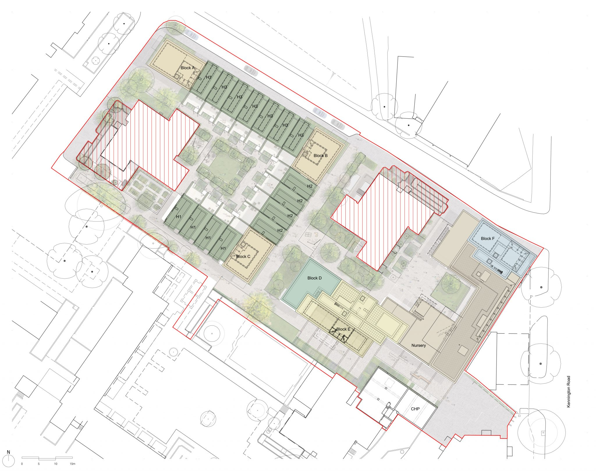Lollard Street: Site Plan - After