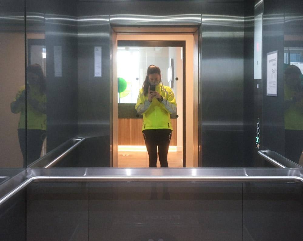 Alexandra Baker snagging on-site for 120 Moorgate during lockdown